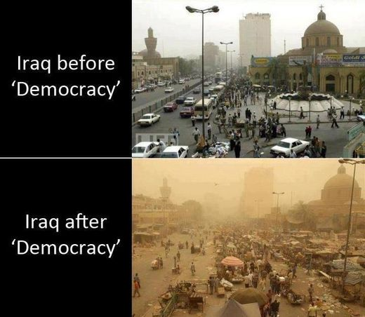 iraq before & after