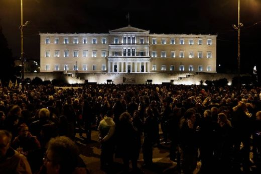Syntagma people for the government