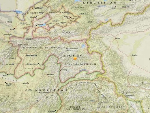 Tajikistan earthquake map