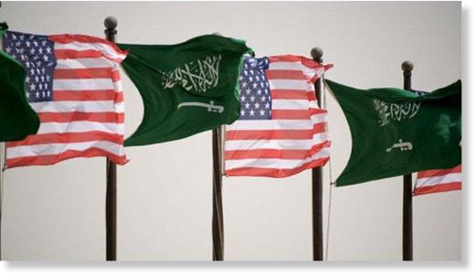 Saudi US flags